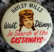 Walt Disney's Vintage In Search of the Castaways - Haley Mills Pin back ... - $9.95
