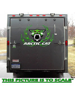 Race Car Truck Trailer Snowmobile Arctic Cat Circle Flame Vinyl Decal - $52.99