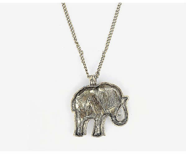 Lucky Red Crystal Elephant Necklace