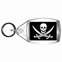 pirates, skull and crossbones  handmade in uk from uk made parts keyring, keyfob