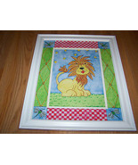 Zoo Safari Lion Matted Framed Print by Tania Schuppert Nursery Picture A... - $32.00