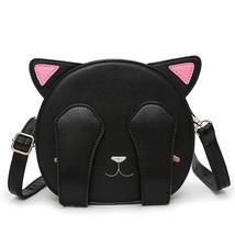 Women PU Leather Cartoon Cute Cat Animal Pattern Shoulder Bag Crossbody Bag - £43.62 GBP