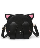 Women PU Leather Cartoon Cute Cat Animal Pattern Shoulder Bag Crossbody Bag - £43.62 GBP