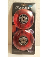 Razor Clear Red Scooter Wheels with Bearings Set - $18.00