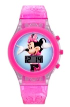 Disney MINNIE MOUSE Digital LCD Watch With Light Up Band - NEW - Holiday... - $29.16