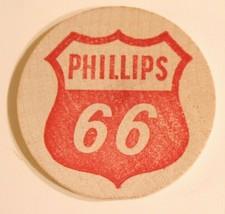 Vintage Wooden Nickel Phillips 66 Old Wooden Buck - $5.93