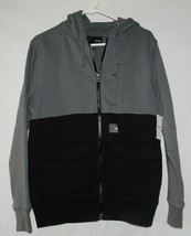 Hurley Gray Black Zip Front Hoodie Size Small BNWT - $39.99