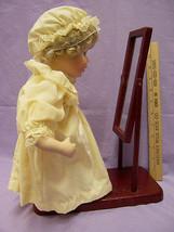 Baby Doll Porcelain Head Arms Legs w/ Mirror & Stand Pale Peach Cap  Dre... - $19.79