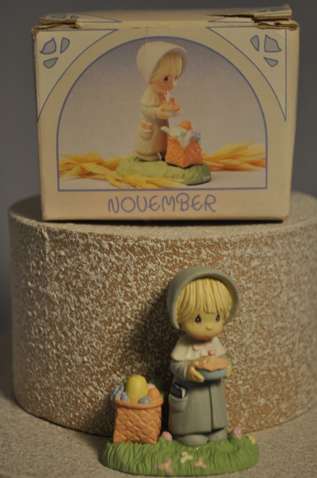 Primary image for Precious Moments - November - Pilgrim Girl with Pie - 573892 Miniature