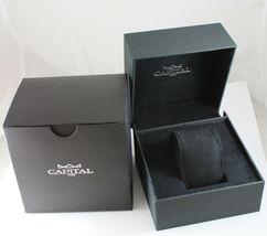 CAPITAL WATCH QUARTZ MOVEMENT 41 MM CASE, BLACK, RED AND WHITE FABRIC BAND NYLON image 3