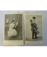 Vintage / Antique Real Photo Unposted Comic Postcards of Romantic Couples - $10.99