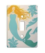 Blonde Mermaid Ceramic Single Switchplate Wall Floater Light Switch Cove... - $21.73