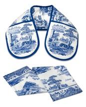 Classic Blue Italian Floral Blue White Double Oven Glove & Tea Towel Set - $18.59