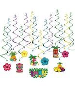 BESTOMZ Hawaiian Decorations Hanging Swirls for Luau Party Favor- 30 Pack - $10.42