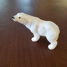 Vintage Polar Bear Figurine, Bone China, Delta Japan Animal Figurine, Bear Decor image 1