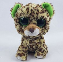 "TY Beanie Boos Speckles the Leopard 6"" Plush Solid Green Eyes Stuffed An... - $16.93"