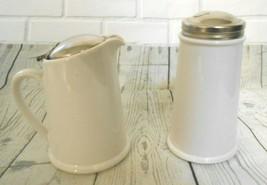 Bee House Japan White Ceramic Sugar Creamer Set - $15.55