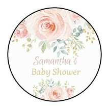 30 Boho Baby Shower stickers Party Favors Labels round watercolor floral... - $4.99