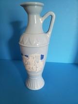 Blue Milk Glass Philosphers vase decanter - $15.00