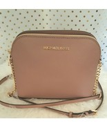 NEW MICHAEL KORS Cindy Fawn Pink Dusty Rose Saffiano Leather Crossbody - $115.00