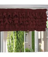 Chiffon BURGUNDY Ruffle Layered Window Valance any size - $29.99+