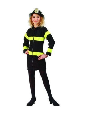 Primary image for Fire Heroine Kids Girls Costume Firefighter First Responder Heros Size Small 4-6