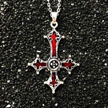 Ss pendant necklace vintage gothic cross pendant necklace lucifer satan satanic jewelry thumb200