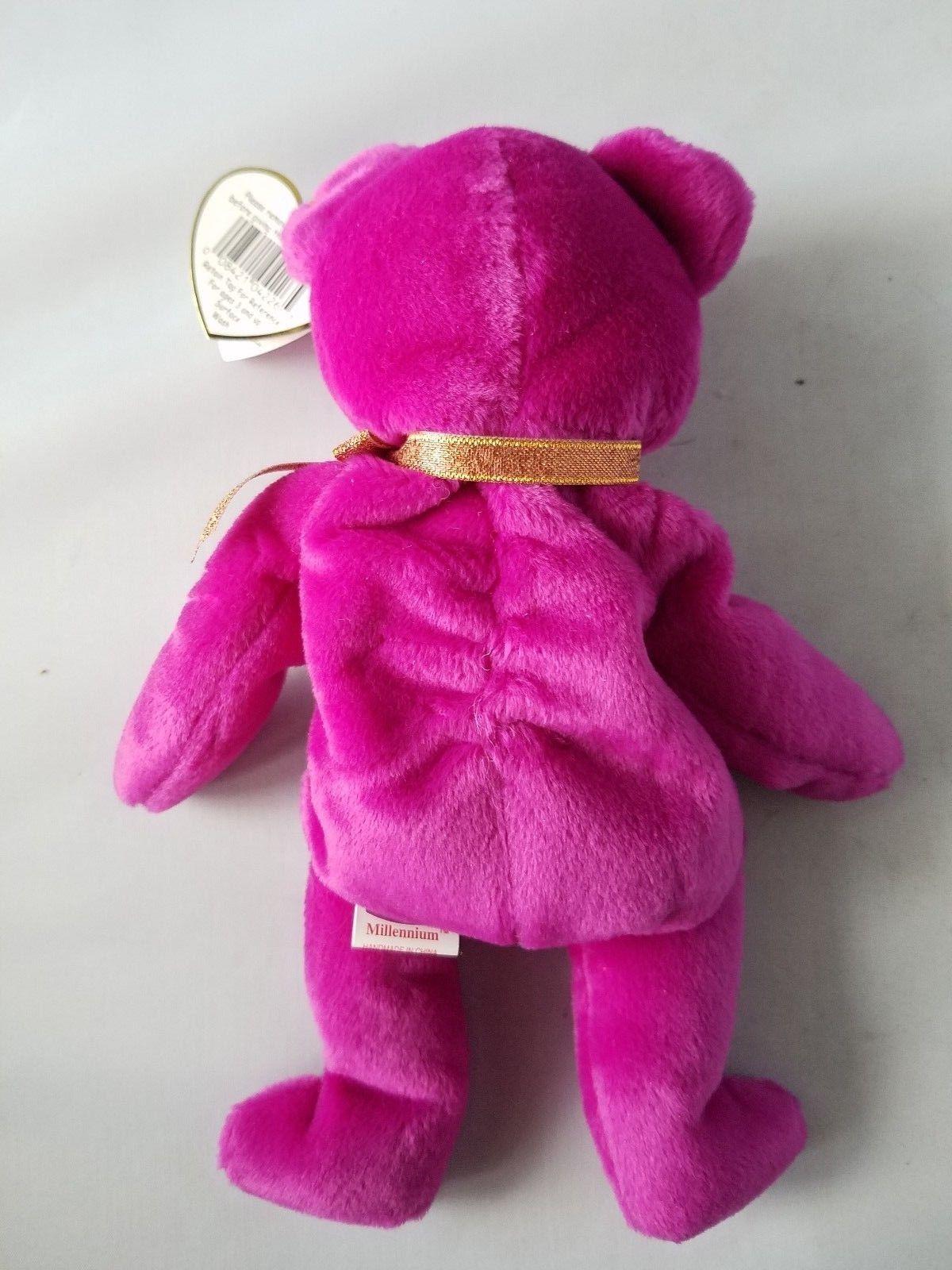2a903b1773d Ty Beanie Baby Millennium Millenium Bear P.E. Pellets Rare With Errors .