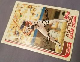1982 Topps Cesar Cedeno Houston Astros #640 Baseball Card - $1.48