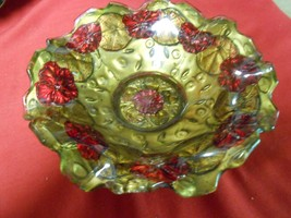 Magnificent .Antique GOOFUS GLASS  Candy Dish.. 1920's..Probably Indiana... - $15.51