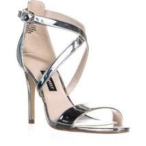 Nine West Mydebut Dress Heel Sandals, Silver, 6 US - $33.59