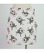 TOPSHOP Pink Floral Print Knee Length Straight Pencil Skirt Size 10 Wais... - $19.79