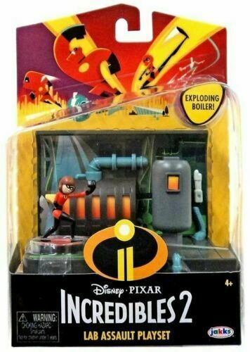 Primary image for Incredibles 2 Lab Assault Playset Disney Pixar Jakks pacific EXPLODING BOILER