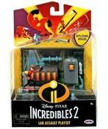 Incredibles 2 Lab Assault Playset Disney Pixar Jakks pacific EXPLODING B... - $16.76