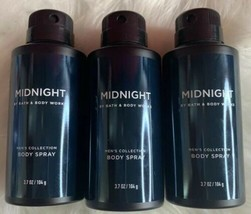 3-Midnight By Bath And Body Works Men's Collection Body Spray 3.7oz - $35.64