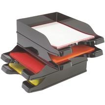 Deflecto Docutray Multidirectional Stacking Tray, 2 Pk DEF63904 - $35.39