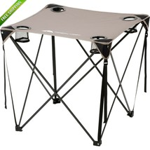 Portable Beach Table Folding Ozark Trail Camping Outdoor Hiking Fishing ... - $28.35