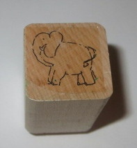 ELEPHANT Rubber Stamp Close To My Heart Wood Mounted Animals  - $3.75