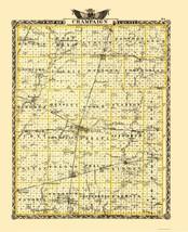Champaign Illinois Landowner - Warner 1870 - 23 x 28.20 - $36.95+