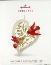 2018 Hallmark Keepsake Ornament - OUR FIRST CHRISTMAS TOGETHER - Porcela... - $4.94