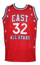 Julius Erving #32 Aba East All Stars Basketball Jersey Sewn Red Any Size image 5