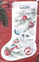 Janlynn Kitten Cat Christmas Tree Ornaments Cross Stitch Stocking Kit 80-69 - $84.95
