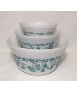 Vintage federal glass set of 3 american homestead bowls thumbtall