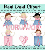 Breast Cancer Angels Clipart - $1.25