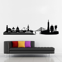 San Francisco City Skyline Vinyl Wall Art Decal (WD-0775) - $28.99