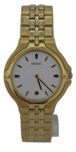 Seiko presage, retro watch, 5E29, sapphire crysal, gold tone, SDP078 - $173.25