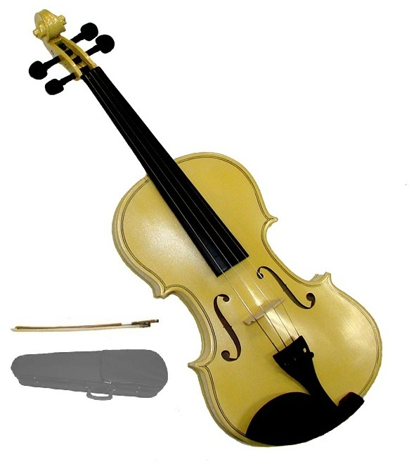 Lucky Gifts 1/4 Size Beginner, Student Violin with Case and Bow ~ Yellow
