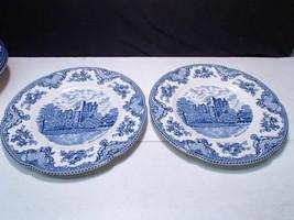 "2 Johnson Bros Old Britain Castles 10"" Dinner Plates ~~ Blarney Castle - $19.99"