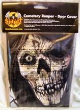 HALLOWEEN~CEMETERY REAPER~DOOR COVER~GRIM GRAVE DIGGER~TOMBSTONES~CREEPY... - £5.89 GBP