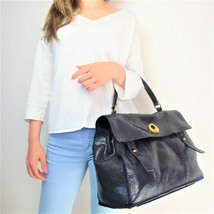YSL Saint Laurent Blue Python Leather Muse 2 Handbag - $1,299.00